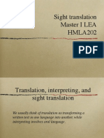 Introduction to Sight Translation course