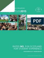 University of Dundee, Undergraduate Prospectus 2015 (Double page spread)