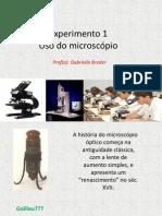 Uso do Microsópio ótico