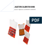 Calibration Shims Catalogue 2011