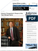 Michael Harris IU Kokomo,  Chancellor Recognized, Kokomo Perspective Person of the Year,  פרופסור וצ'נסלור מייקל הריס
