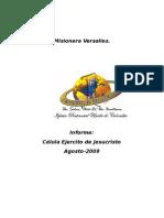 Informe de celula EL EJERCITO DE JESUCRISTO - AGOSTO 2009
