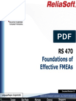 FMEA RCM Course - Foundations of Effective FMEA - RS 470 CourseNotes_Rev9.1