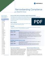 Narrowbanding Fact Sheet