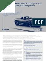 Jaguar Land Rover Configuration Lifecycle Management Web