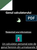 Genul calculatorului