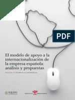 El Modelo de Apoyo a La Internacionalizacion de La Empresa Espanola Analisis y Propuestas