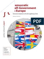 Democratic Self-government in Europe