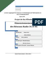 151274048 PFE Dimensionnement Reseaux Radio 3G Et 4G