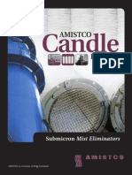 Candles for sulphuric acid