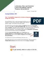 Publisher 2003 Tutorial
