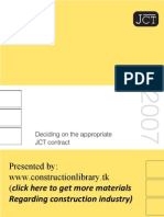Deciding JCT Contract practice guide
