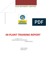 In-plant Training Report
