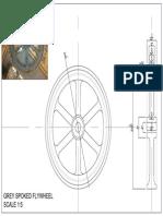 Grey Spoked Flywheel