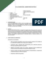 SÍLABO DE LABORATORIO DE FÍSICA I