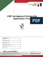 Springboard Scholarship Application