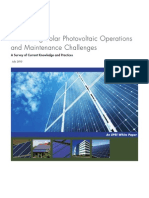 Addressing Solar Photovoltaic Operations and Maintenance Challenges