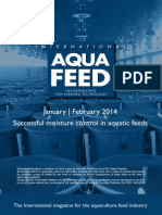 Successful moisture control in aquatic feeds