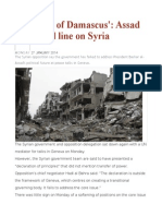 'the Keys of Damascus' Assad Draws Red Line on Syria