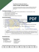 Intermediate Level Strength Training Program