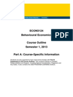 ECON3124 Behavioural Economics S12013 PartA