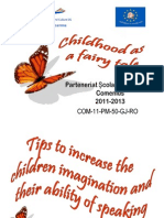 """"""" Tips to increase  the children """"imagination and their ability of speaking""""."""