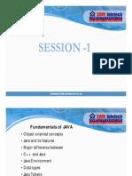 Fundamentals of JAVA