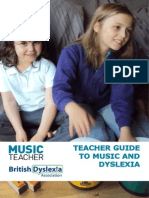Music Teacher Guide Music and Dyslexia