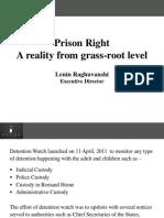 PVCHR initiative for prison reform