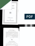 F.R. Leavis Culture & Environment