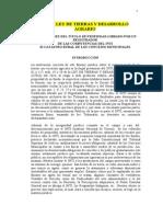 Ley de Tierras y Desarrolo Agragario_Castrato Rural Municipal
