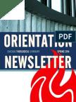 CTS Orientation Newsletter - Spring 2014