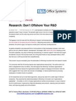 Don't Offshore Your R&D