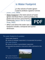 What is Water Footprint