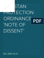 PTI's Note to Imrove the Pakistan Protection Ordinance