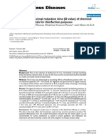 Determination of Decimal Reduction Time (D Value) of Chemical Agents Used in Hospitals for Disinfection Purposes