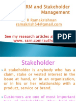 CRM and Stakeholder Management