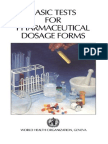Basic Test for Pharmaceutical Dosage Form