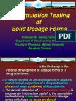 Preformulation Testing of Solid Dosage Forms
