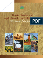 Climate Change and Agriculture in the United States