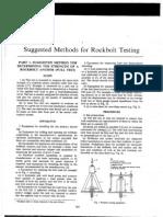 Suggested Methods for Rockbolt Testing-IsRM