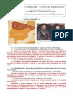 1.4 Teste Diagnóstico - A Formação do Reino de Portugal (1) - Soluções