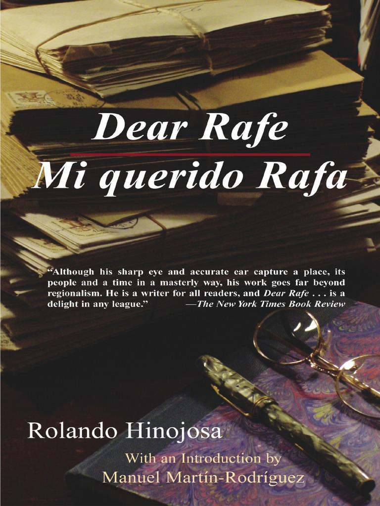 Dear Rafe /Mi Querido Rafa by Rolando Hinojosa | Chicano