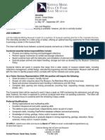 NMHFM 2014 Internship Announcement