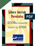 Urtarrileko liburu berriak -- Novedades de enero