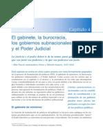 CapÒtulo 4 - El gabineter, la burocracia, los gobiernos subnacionales y el Poder Judicial