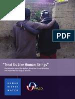 HRW Treat Us Like Human Beings
