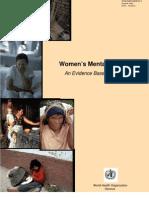 World Health Women and Revictimisation