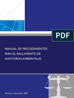 Documento 11 a Manual de Procedimientos Auditorias Ambientales