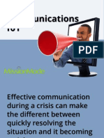 Crisis Communications 101